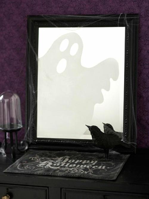 Gespenstige Dekoideen zu Halloween geist idee reflexion