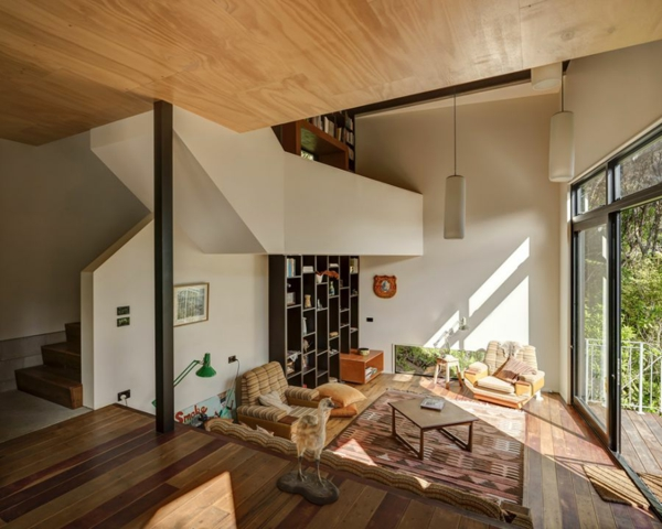 schöne Residenz mit differenzierten Wohnflächen wohnzimmer holz
