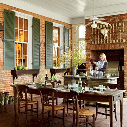 Küchen Design mit eingebautem Grill modern veranda grill