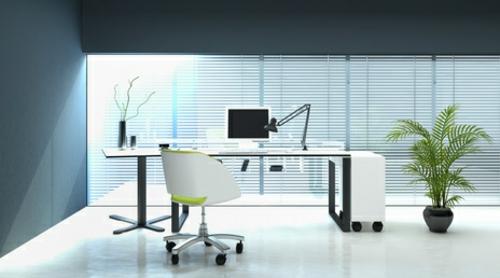 Moderne büroeinrichtung  und moderne Dekoelemente bei der Büroeinrichtung