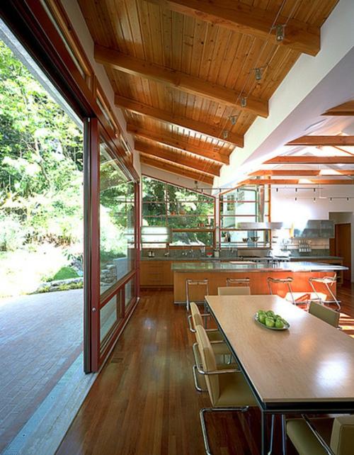 Moderne Terrasse gestalten holz gartenmöbel esszimmer esstisch stühle
