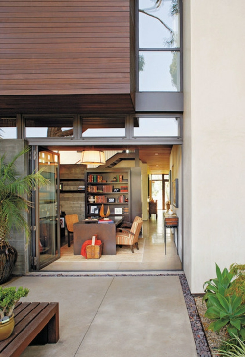 Moderne Terrasse gestalten holz gartenmöbel idee vielfalt