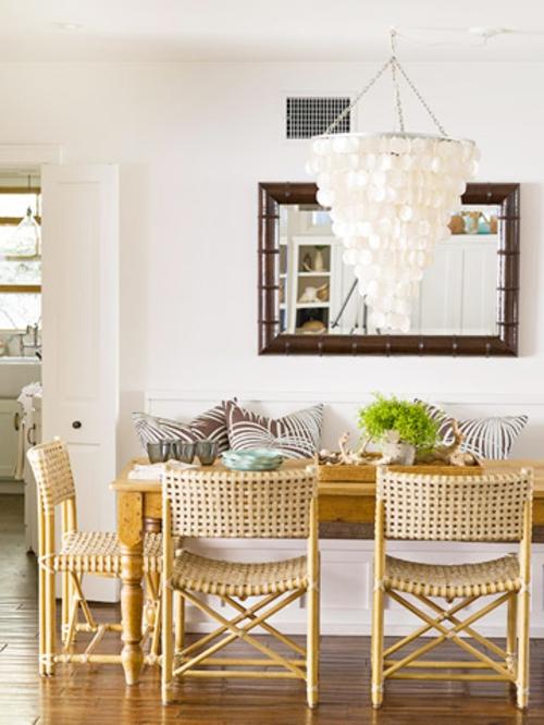 Moderne Wandfarbe fürs Zuhause esszimmer möbel kronleuchter weiß
