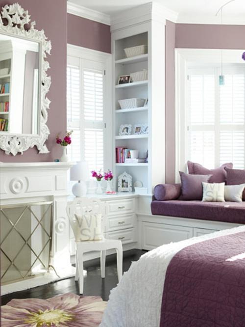 moderne-wandfarbe-fürs-zuhause-lila-schlafzimmer-feminine-design