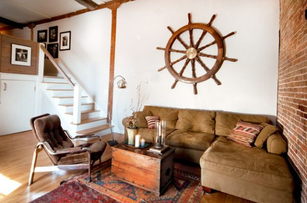 wohnzimmer ofen abstand:Nautical Living Room Decorating Ideas