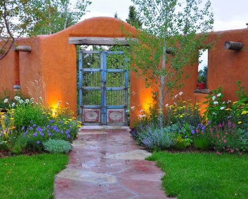 Origineller Sichtschutz Im Garten Bequeme Sitzecke Im Außenbereich