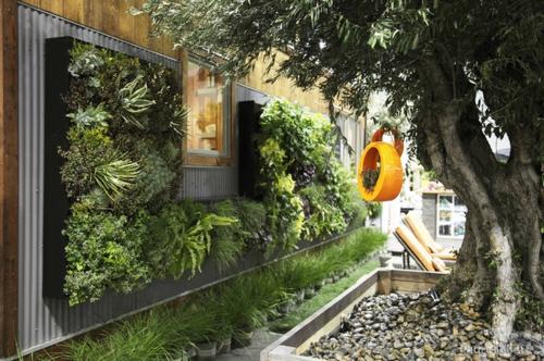 Chestha.com | Vertikaler Dekor Garten Gartengestaltung Ideensichtschutz Metall