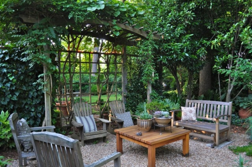 Origineller Sichtschutz im Garten landschaft wohnbereich draußen
