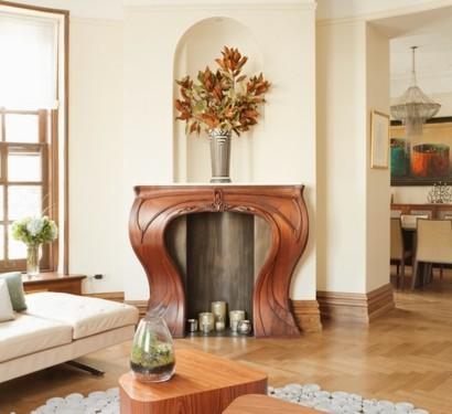 Ornamentale Kunst beim Interior Design - Art Nouveau Stil