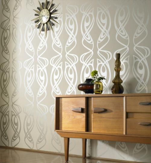 Ornamentale Kunst beim Interior Design kommode niedrig holz schubladen
