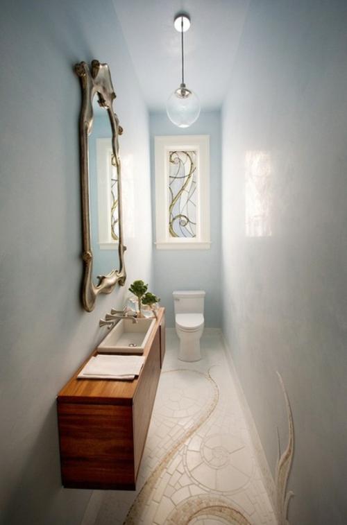 Ornamentale Kunst beim Interior Design wandspiegel glas ballon wc waschbecken
