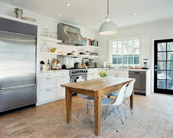 Praktisches Küchenzubehör als Dekoration esstisch rustikal holz regale weiß