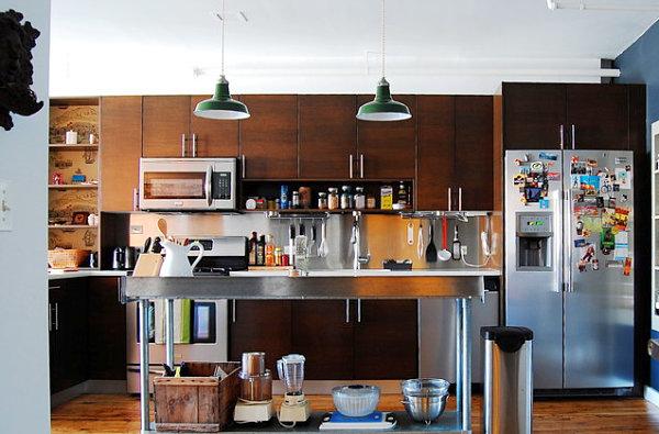 Praktisches Küchenzubehör Als Dekoration Hängelampen Ständer Regalbrett