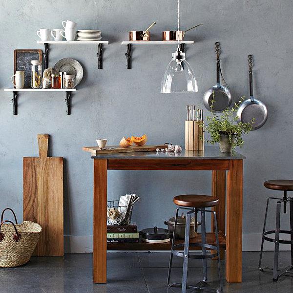 Praktisches Küchenzubehör als Dekoration holz hängelampen regale