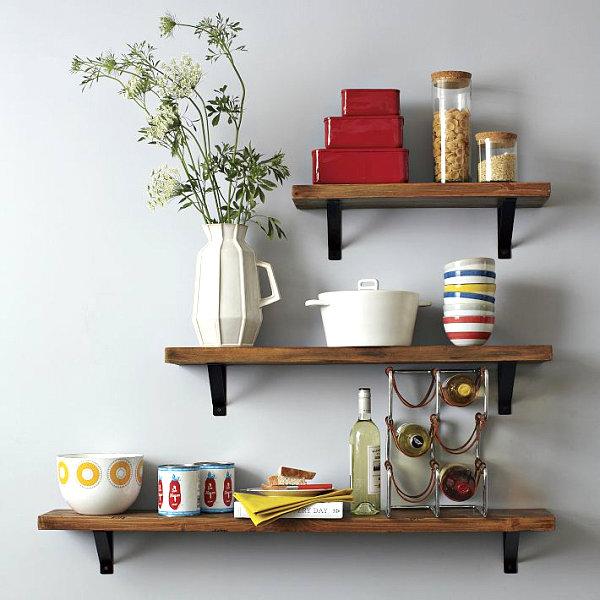 Praktisches Küchenzubehör als Dekoration holz regale modular größen