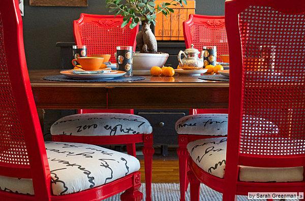 Feuer Modernen Design Rotes Esszimmer Feuer Im Modernen Design