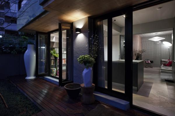 Apartment mit großartiger Wohnfläche garten holz bodenbelag