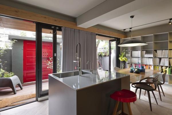 Schönes Haus mit großartiger Wohnfläche kücheninsel glanzvoll spüle