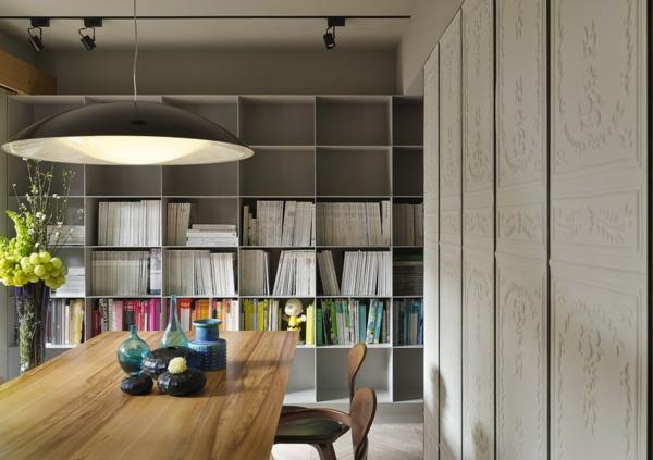 Apartment mit großartiger Wohnfläche offene regale essbereich