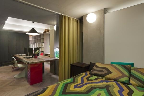Apartment mit großartiger Wohnfläche schlafzimmer doppelbett