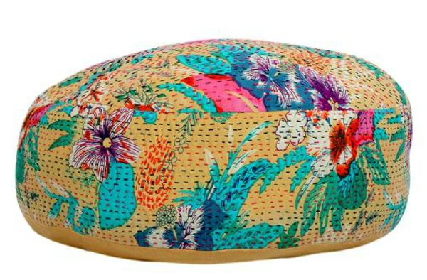 Schicke Vintage Deko Ideen im Sommer sitzkissenbaumwollegewebe