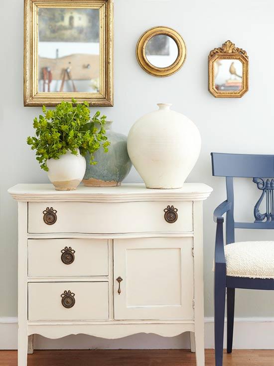 Schicke Wohnzimmer Ideen kommode klassisch schubladen
