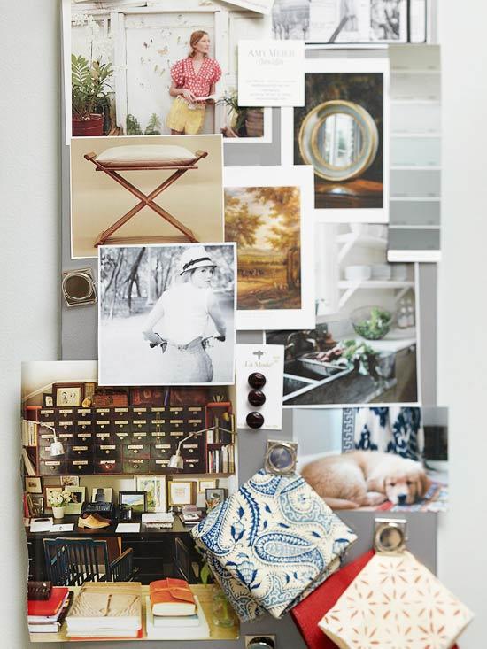 Schicke praktische Wohnzimmer Ideen magnettafel notizen homeoffice