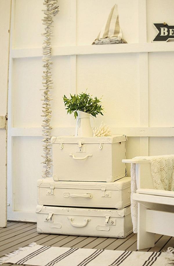 Trendy Möbel aus alten Koffern selber machen nebentisch vintage