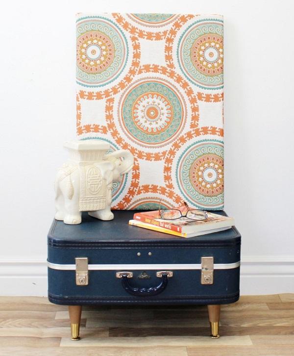 trendy m bel aus alten koffern zum selbermachen. Black Bedroom Furniture Sets. Home Design Ideas