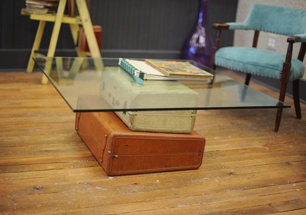 Trendy Möbel aus alten Koffern selber machen tischplatte glas oberfläche