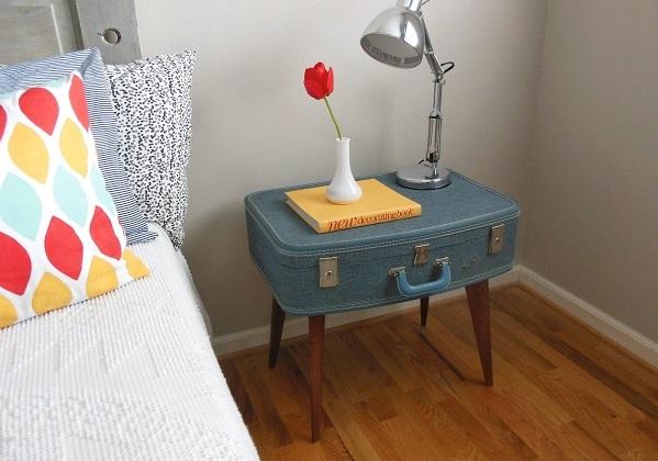 Trendy Möbel aus alten Koffern zum Selbermachen vintage cölinblau