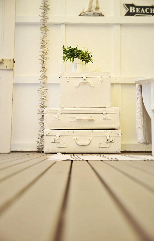 Trendy Möbel aus alten Koffern zum Selbermachen weiß oberfläche