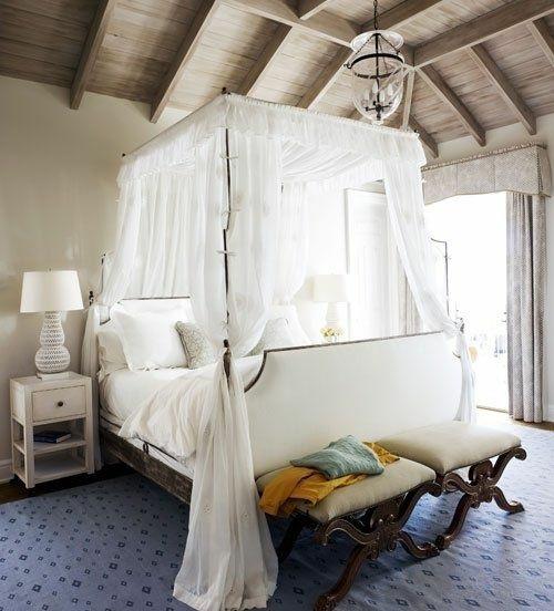 Himmelbett weiß romantisch  33 erstaunliche weiße Himmelbett Designs für Ihr Schlafzimmer
