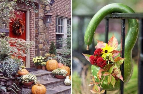 außenbereich deko halloween ideen selber machen DIY amerikanisch stil