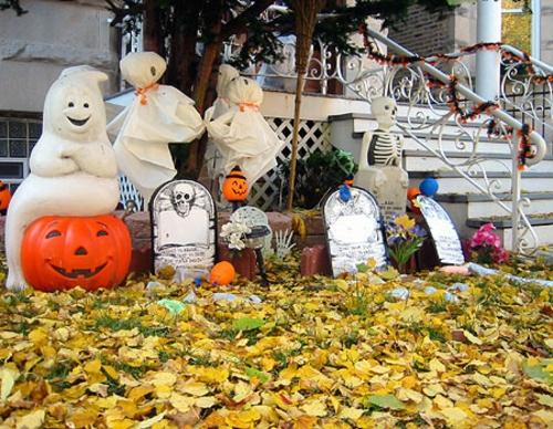 außenbereich deko halloween ideen selber machen DIY auffallend