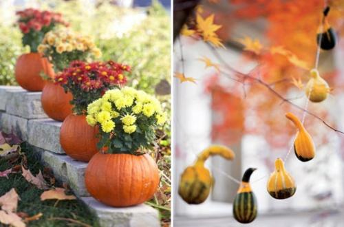 garten deko halloween ideen selber machen DIY blumentöpfe