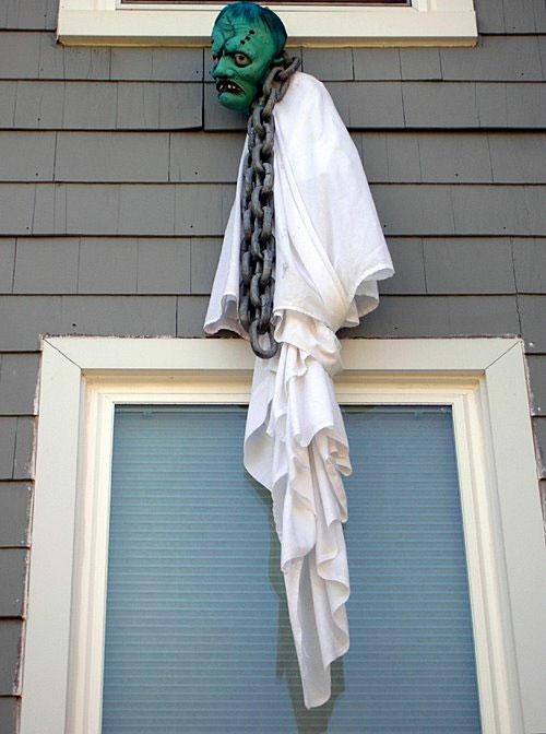 außenbereich garten deko halloween ideen selber machen DIY fenster