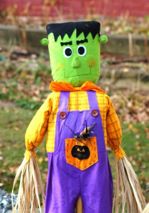 außenbereich deko halloween ideen selber machen DIY frankenstein monster