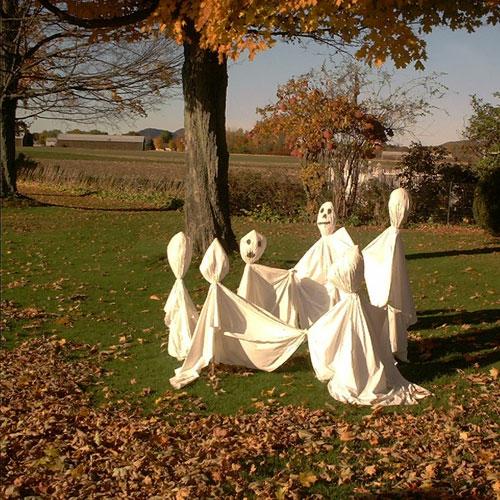 außenbereich deko halloween ideen selber machen DIY geisttanz