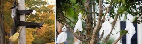 außenbereich deko halloween ideen selber machen DIY hexe
