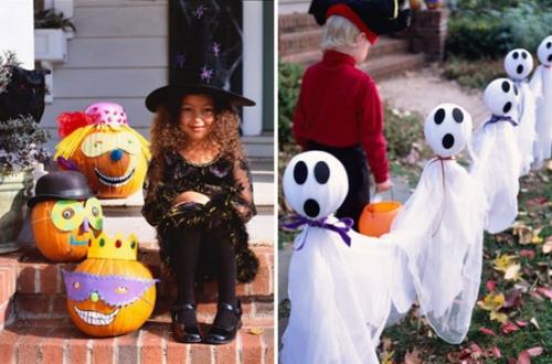 außenbereich deko halloween ideen selber machen DIY kostüm