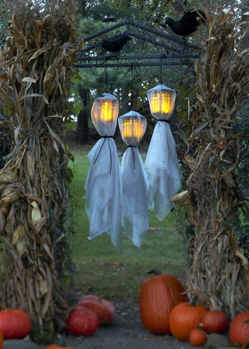 außenbereich deko halloween ideen selber machen DIY laternen