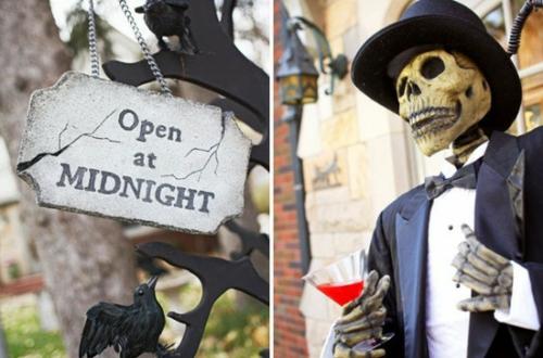 außenbereich deko halloween ideen selber machen DIY mitternacht