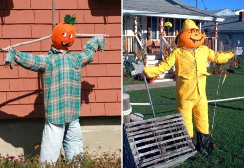 außenbereich deko halloween ideen selber machen DIY modelle
