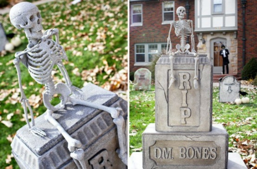 außenbereich deko halloween ideen selber machen DIY originell design