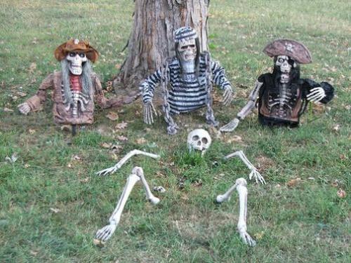 außenbereich deko halloween ideen selber machen DIY pirat gefängnis