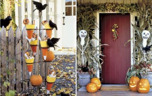 außenbereich deko halloween ideen selber machen DIY projekte