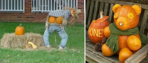 außenbereich deko halloween ideen selber machen DIY teddy