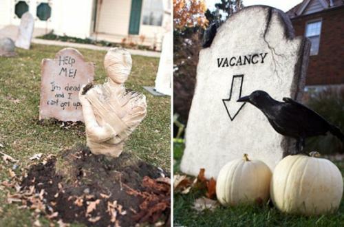 außenbereich deko halloween ideen selber machen DIY urlaub