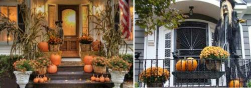 außenbereich deko halloween ideen selber machen DIY veranda